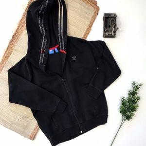 Adidas Black Hoodie Small Zip Front